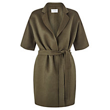 Buy Jigsaw Double Faced Wrap Jacket, Khaki Online at johnlewis.com