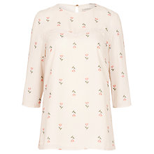 Buy Sugarhill Boutique Mara Heart Flower Top, Cream Online at johnlewis.com