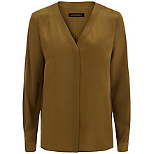 Buy Jaeger V-Neck Silk Blouse Online at johnlewis.com
