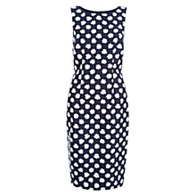 Buy Hobbs Adele Shift Dress, Navy/Ivory Online at johnlewis.com