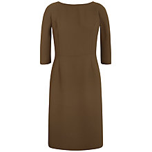 Buy Jaeger Wrap Detail Dress, Khaki Online at johnlewis.com