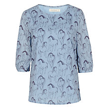 Buy Sugarhill Boutique Fifi Running Horse Cross Back Top, Blue/Multi Online at johnlewis.com