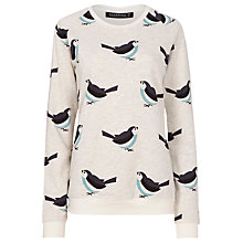 Buy Sugarhill Boutique Birdie Print Sweatshirt, Cream Online at johnlewis.com