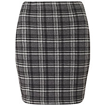 Buy Miss Selfridge Check Mini Skirt, Grey Online at johnlewis.com