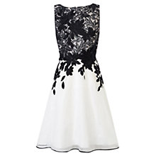 Buy Coast Anabelle Artwork Dress, Black/White Online at johnlewis.com