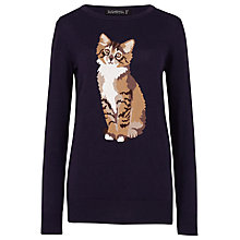 Buy Sugarhill Boutique Nita Curious Cat Jumper, Navy Online at johnlewis.com