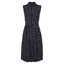 Buy Hobbs Birdie Dress, Navy/Ivory Online at johnlewis.com