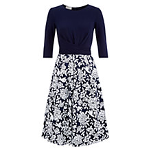 Buy Hobbs Jessica Dress, Navy/Ivory Online at johnlewis.com