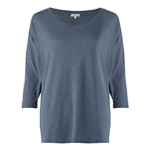 Buy Jigsaw Foundation Cotton Slub Dropped Shoulder T-Shirt Online at johnlewis.com