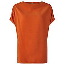 Buy Jigsaw Drape Neck Silk Front Tunic Online at johnlewis.com