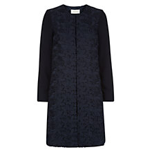 Buy Hobbs Rina Lace Coat, Navy Online at johnlewis.com