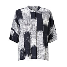 Buy Kin by John Lewis Oversized Kasuri Shirt, Navy Online at johnlewis.com