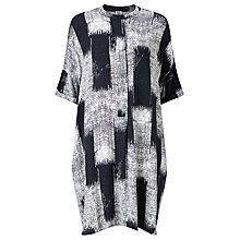 Buy Kin by John Lewis Oversize Kasuri Shirt Dress, Navy Online at johnlewis.com