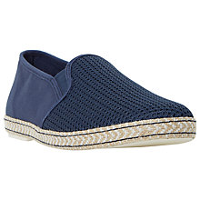 Buy Dune Fencing Mesh Vamp Slip-On Espadrille Shoes, Navy Online at johnlewis.com