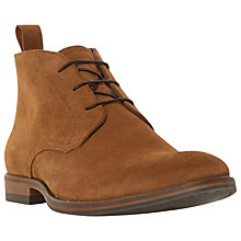 Buy Dune Claude Suede Lace-Up Chukka Boots, Tan Online at johnlewis.com