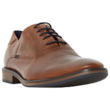 Buy Dune Barber Leather Lace-Up Oxford Shoes, Tan Online at johnlewis.com