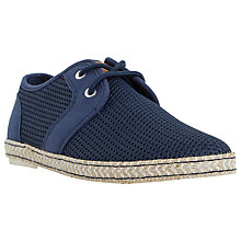 Buy Dune Fennton Lace Up Espadrilles, Navy Online at johnlewis.com