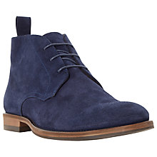 Buy Dune Claude Suede Lace-Up Chukka Boots, Navy Online at johnlewis.com