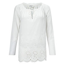 Buy Hartford Hamor Tie Neck Top, Raw Online at johnlewis.com