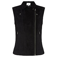 Buy Denim Wardrobe by Trilogy Harley Suede Gilet, Black Online at johnlewis.com