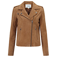 Buy Denim Wardrobe by Trilogy Harley Suede Jacket, Tan Online at johnlewis.com