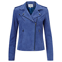 Buy Denim Wardrobe by Trilogy Harley Suede Jacket, Blue Online at johnlewis.com