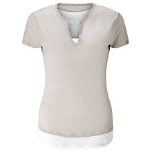 Buy Denim Wardrobe by Trilogy Double Layer Henley Top Online at johnlewis.com