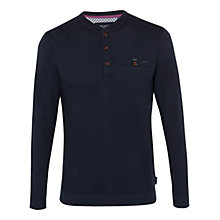 Buy Ted Baker Twyne Henley Neck Ribstart Jumper, Navy Online at johnlewis.com