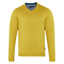 Buy Ted Baker Ninvin V Neck Jumper, Lime Online at johnlewis.com