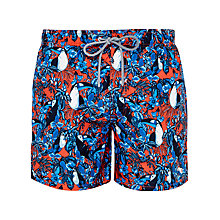 Buy Ted Baker Toosho Toucan Illustrated Swim Shorts, Orange Online at johnlewis.com