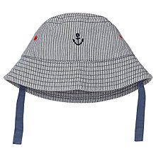 Buy John Lewis Baby Nautical Anchor Sun Hat, Navy Online at johnlewis.com