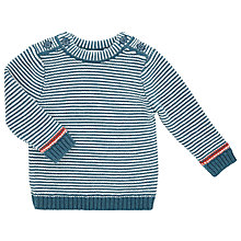 Buy John Lewis Baby Stripe Jumper, Blue/White Online at johnlewis.com