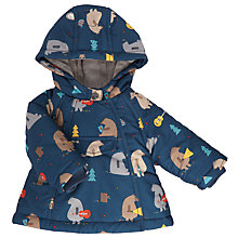 Buy John Lewis Baby Bear Wadded Jacket, Blue Online at johnlewis.com