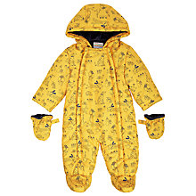 Buy John Lewis Baby Dog Print Snowsuit, Yellow Online at johnlewis.com
