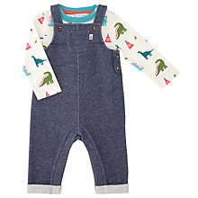 Buy John Lewis Baby Jersey Dinosaur Dungaree Set, Multi Online at johnlewis.com
