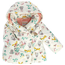 Buy John Lewis Baby Woodland Waded Jacket, Cream/Multi Online at johnlewis.com