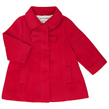 Buy John Lewis Baby A-Line Coat, Red Online at johnlewis.com