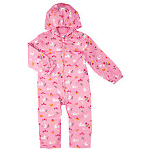 Buy John Lewis Bunny Print Puddlesuit, Pink/Multi Online at johnlewis.com