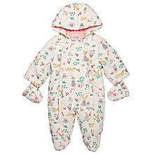 Buy John Lewis Baby Secret Garden Snowsuit, Cream Online at johnlewis.com
