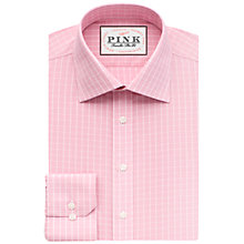 Buy Thomas Pink Christie Slim Fit Check Shirt, Pink/White Online at johnlewis.com