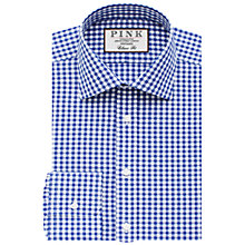 Buy Thomas Pink Summers Check Classic Fit XL Sleeve Double Cuff Shirt, Blue/White Online at johnlewis.com
