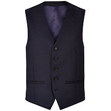 Buy Jaeger Plain Twill Suit Waistcoat, Navy Online at johnlewis.com