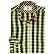 Buy Thomas Pink Evenson Shirt, Yellow/Navy Online at johnlewis.com