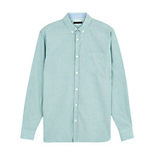 Buy Jaeger End-on-End Shirt Relaxed Cotton Shirt, Light Emerald Online at johnlewis.com