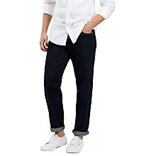 Buy Jaeger Washed Selvedge Jeans, Indigo Online at johnlewis.com