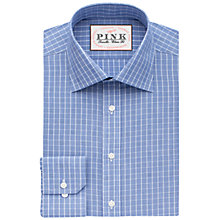 Buy Thomas Pink Christie Check Classic Fit XL Sleeve Shirt, Blue/White Online at johnlewis.com
