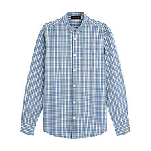Buy Jaeger Melange Check Shirt, Airforce Blue Online at johnlewis.com
