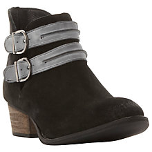 Buy Steve Madden Raskal Buckle Block Heeled Ankle Boots Online at johnlewis.com
