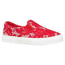 Buy Kurt Geiger London Slip On Trainers, Red Online at johnlewis.com