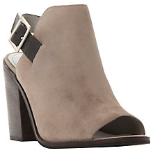 Buy Steve Madden Tallen Peep Toe Block Heel Sandals, Grey Suede Online at johnlewis.com